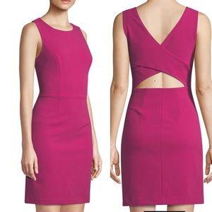 BETSEY JOHNSON Pink Scuba Back Cutout Dress